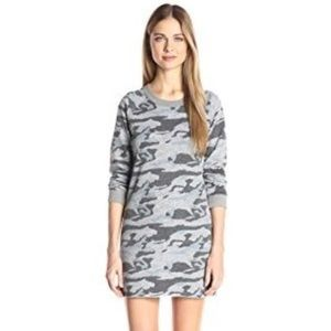 Monrow Blue Camo Sweatshirt Dress